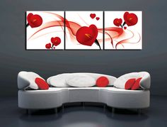YPAB528 Wholesale 3 Panel Abstract Artist Texture Modern Flower Painting, View Modern Flower Painting, Novae Product Details from Shenzhen Novae Home Decor Co., Limited on Alibaba.com