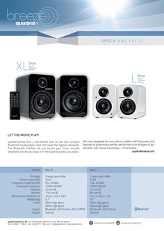 Quadral Breeze blue - enceinte Bluetooth Bluetooth, Loudspeaker, Breeze, France, Speakers, French