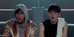Mingyu & Wonwoo Adore U special omg are u serious Dx LOOK AT WONWOO SCRUNCHING UP HIS NOSE AHH