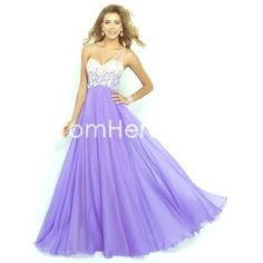 A-line One Shoulder Long Chiffon Prom Dress Beautiful Artie 2015 A-line One Shoulder Long Chiffon Prom Dress with Beads and Crystals! Never been worn. Perfect dress for Prom or a formal event! PromHere Dresses Prom