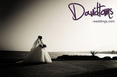 Bride with a great sea background, weddings in Marbella are so beautiful