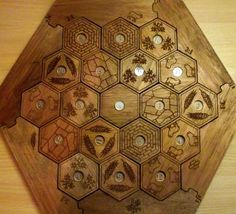 Lasered and Routered Catan board. Do want.
