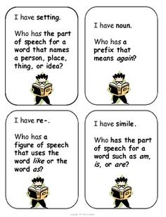I Have . . . . Who Has . . .? Language Arts Review