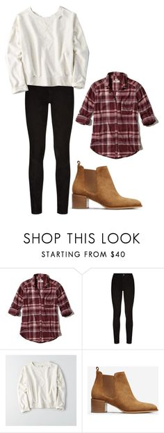 """""""Untitled #661"""" by karinasoto39 on Polyvore featuring Hollister Co., Paige Denim, American Eagle Outfitters and Everlane"""