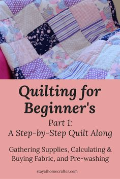 Quilting 101 quilt it pinterest block quilt quilt tutorials step by step guide to sewing your own baby quilt for even the most inexperience beginner fandeluxe Gallery
