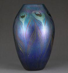 Tiffany Peacock vase