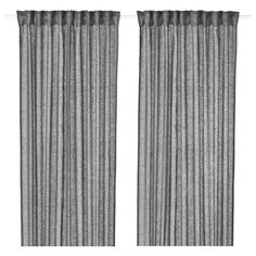 , Curtains - Blinds LEJONGAP (IKEA Curtains Blinds) cm color:Dark grey When considering to master bedroom design ideas, several things. Ikea Curtains, Curtains With Blinds, Panel Curtains, Grey Blinds, Decorative Accessories, Home Accessories, Curtains Without Sewing, Sliding Door Window Treatments, Grey Art