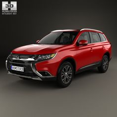 Mitsubishi Outlander 2015 3d model from humster3d.com. Price: $75