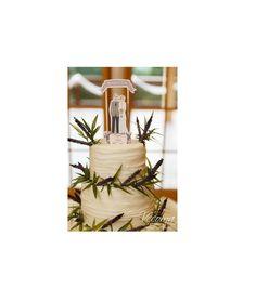 Custom Wedding Cake Topper Lavender Summer Fall by ThePixelette