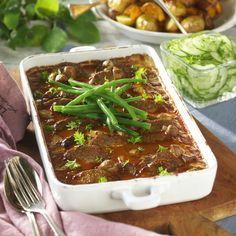 Falsk fläskfilé i gräddsås Pork Recipes, Recipies, Swedish Recipes, Something Sweet, Meatloaf, Lchf, Food Inspiration, Chili, Good Food