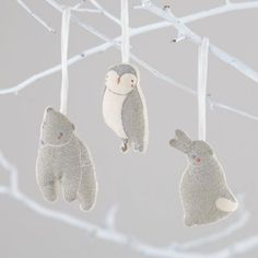 The glittering gold and silver embroidery of our Wintry Wonder Ornament will make your mantel really shine.  Its charming animal shape gives it a touch of playfulness.  Designed exclusively for us by Gingiber.