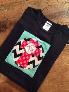 Hand made multifabric cross appliqué shirt by aprilleighoriginals