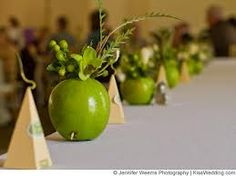 wedding decorations with apples - Google Search