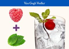 Mix up a Raspberry Club with two easy ingredients and a delicious raspberry garnish. Combine 2 oz. Van Gogh Raspberry Vodka with 3 oz. of club soda in a tall glass with ice. Garnish with a raspberry and mint leaves.