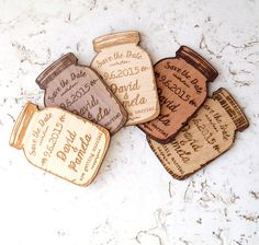 Mason jar magnets, save the date magnet, rustic save the date, save the dates, save the date magnets, wooden save the date magnet, set of 25 pc Our save the date magnets are a great way to announce your wedding. Those rustic save the dates are made with love and attention to