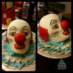 Scary creepy clown cake