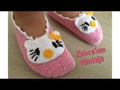 Patik yapımı,çocuk patiği yapımı,tığ ile patik yapımı - YouTube Crochet Baby Sandals, Crochet Slippers, Crochet Hats, Diy Home Crafts, Free Pattern, Baby Shoes, Long Hair Styles, Knitting, Kids