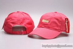 Supreme Curved Brim Caps Red|only US$8.90 - follow me to pick up couopons.