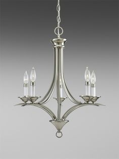 Trinity Collection Brushed Nickel 5-Light Chandelier - http://chandelierspot.com/trinity-collection-brushed-nickel-5light-chandelier-541042856/