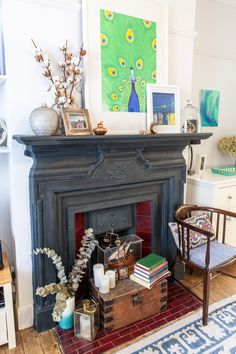 Paint colors that match this Apartment Therapy photo: SW 2802 Rookwood Red, SW 0007 Decorous Amber, SW 9082 Chocolate Powder, SW 7076 Cyberspace, SW 6259 Spatial White