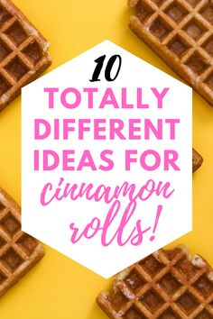 If you love cinnamon rolls, try something different and new! These 10 recipes will give you great ideas to switch it up and make something deliciously different. Cinnamon Roll Monkey Bread, Cinnamon Roll French Toast, Cinnamon Roll Pancakes, Cinnamon Roll Cookies, Rolled Sugar Cookies, Buttery Cookies, Cinnamon Rolls, Easy Brunch Recipes, Easy Desserts