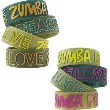 Zumba PLZ 'Peace Love Zumba' Wide Rubber Bracelets