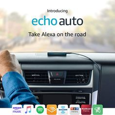 Echo Auto connects to Alexa using your phone, is ready in seconds, and plays through your car speakers.