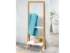 Bambusový věšák na ručníky