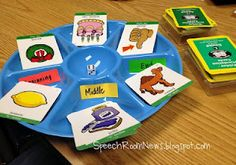 Using a Snack Tray for Speech/Lang Therapy! It's an easy way to spice up your @Super Duper Publications fun decks!