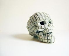 Keyboard Skull by Cape Town's Maurice Mbikayi