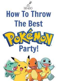 Throw the best Pokemon Party with these food, drink, decor, and activity ideas! Your kids will love it!