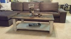 Coffee Table with antiqued legs and stained top (free Shipping) by SOScustomfurniture on Etsy https://www.etsy.com/listing/185360963/coffee-table-with-antiqued-legs-and