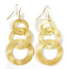 'Linked Up Gold' Ohrringe aus Messing - Kalakosh