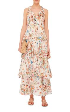 Melania Tiered Maxi Dress by ANJUNA Now Available on Moda Operandi