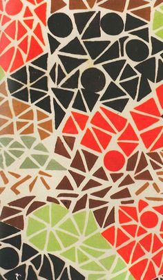 idlehandsaremyownplaythings:    Sonia Delaunay, Geometric design