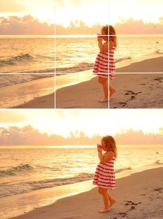How to capture the best beach sunset portraits! How to use the rule of thirds on the beach.