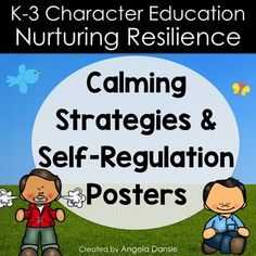 these calming strategies and self regulation posters are perfect to post in the time