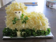 Happy Easter!  a butter lamb