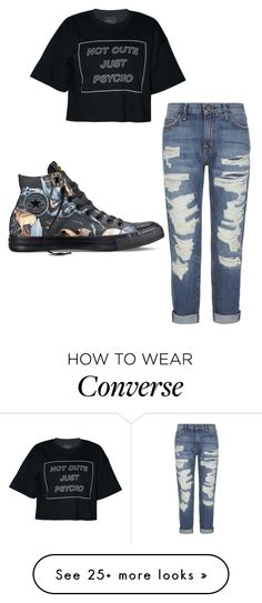 """Untitled #617"" by be-my-superhero on Polyvore featuring Current/Elliott and Converse"