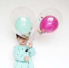 Babiekins Magazine | DIY Partykins // Balloon in a Balloon with Confetti