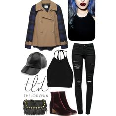 velvet flannel by roxanna-kingston on Polyvore featuring Boohoo, Band of Outsiders, Frame Denim, Gianvito Rossi, Juicy Couture, Rituel de Fille, contestentry and thelodown