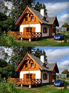 SENDOM.PL - Producent domów drewnianych Rest House, House In The Woods, Old Cottage, Cottage Homes, Village Houses, Play Houses, Dome House, Natural Building, Minimalist Home Decor