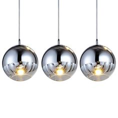 MAMEIGlass Pendant Lighting Modern Chandelier for Kitchen3 Lights *** Click on the image for additional details.