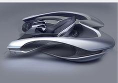 car automotive interior rendering shading industrial design sketch rendering digital wacom