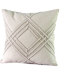 "Sewing Cushion 14 Karat Home ""Sandy"" Decorative Pillow - Sewing Pillows, Diy Pillows, Throw Pillows, Decorative Cushions, Scatter Cushions, Cushion Covers, Throw Pillow Covers, Decorating On A Dime, Pillow Inspiration"