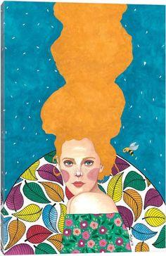 """beautiful stranger"" watercolour on paper) SOLD🔴 Art And Illustration, Illustrations, Instalation Art, Klimt, Portrait Art, Belle Photo, Art Day, Altered Art, Canvas Art Prints"