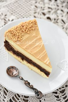 Brownie cheese pie with peanut butter cream-Brownie- Käsetorte mit Erdnussbuttercreme Brownie cheese pie with peanut butter cream - Brownie Desserts, Cheesecake Brownies, Brownie Recipes, Cheesecake Recipes, Cookie Recipes, Dessert Recipes, Pie Recipes, Coconut Cheesecake, Dessert Blog