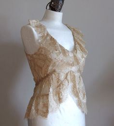 Lace camisole fairy tale wedding neutral top romantic by couvert, $68.00