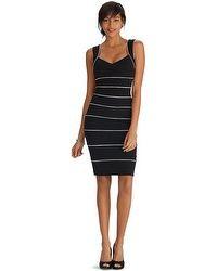 Sleeveless Black and White Instantly Slimming Dress
