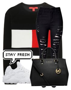 """""""Rich Homie Quan~Flex (ooh ooh ooh)"""" by kaylonie ❤ liked on Polyvore featuring Tommy Hilfiger, NIKE, MICHAEL Michael Kors, women's clothing, women, female, woman, misses and juniors"""